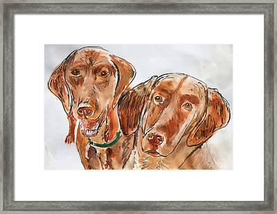 Kiwi And Remi Framed Print