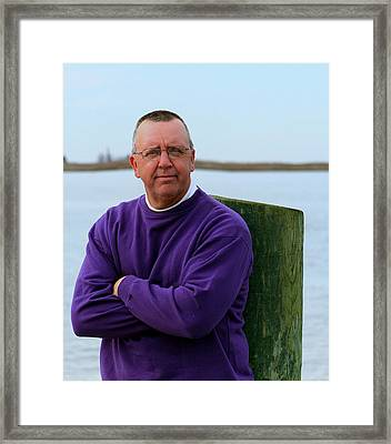 Kj By The Docks Framed Print