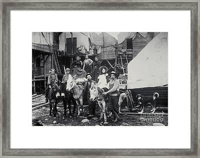 Klondike Gold Rush, 1898 Framed Print by Photo Researchers, Inc.