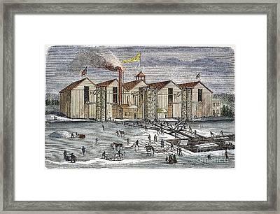 Knickerbocker Ice Co.,  C1846 Framed Print by Granger