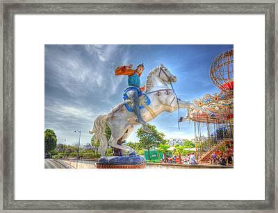 Knight Framed Print by Barry R Jones Jr