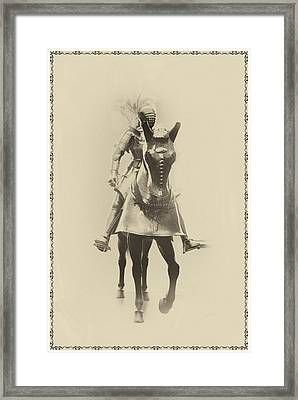Knight In Shining Armor Framed Print by Bill Cannon