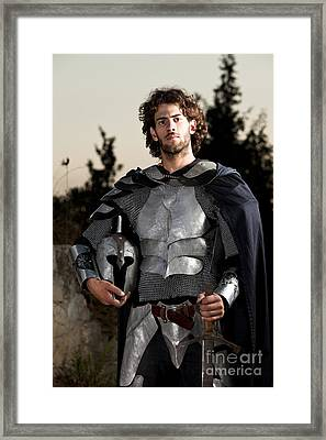 Knight In Shining Armour Framed Print by Yedidya yos mizrachi