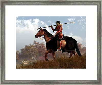 Knight Of The Fall Quest Framed Print by Daniel Eskridge