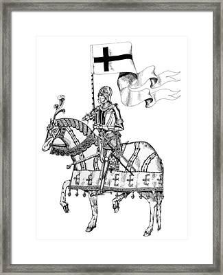 Knight On Parade Framed Print