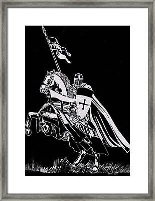 Knight Templar Framed Print by Jim Ross