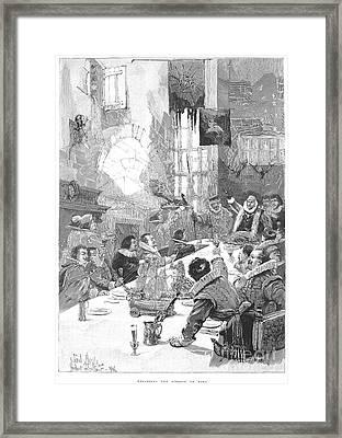 Knighting The Sirloin Framed Print by Granger