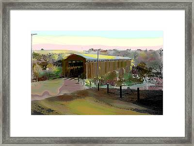 Knights Ferry Covered Bridge Framed Print by Charles Shoup