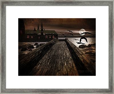 Knight's View Framed Print by Lourry Legarde