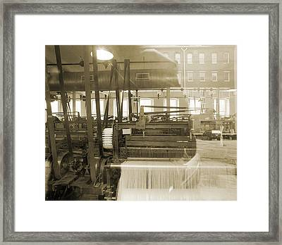 Knitting Machiens Lowell Framed Print by Jan W Faul