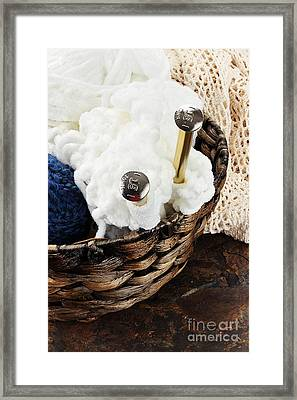 Knitting Needles Framed Print by Stephanie Frey