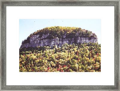 Knob Mountain Framed Print