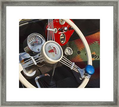 Knobs And Guages Framed Print