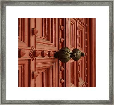 Knobs Framed Print by David Mcchesney