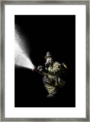 Knock Down Framed Print by Drew Castelhano