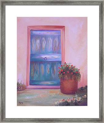 Knock Knock Framed Print by Nabil Wehbe