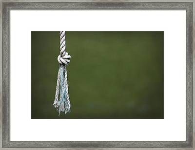 Framed Print featuring the photograph Knot by Kelly Hazel
