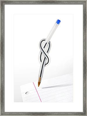 Knot Pen Framed Print by Carlos Caetano