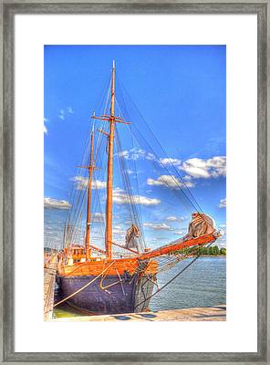 Know The Ropes Framed Print by Barry R Jones Jr