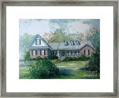 Framed Print featuring the painting Knox's Home Illustration by Gretchen Allen