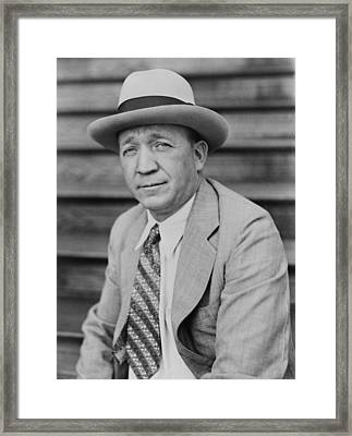 Knute Rockne 1888-1931, Head Football Framed Print by Everett