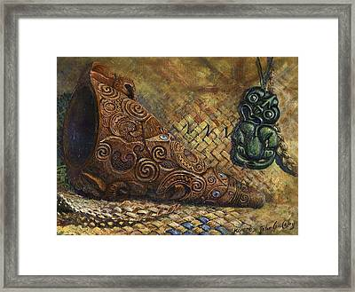 Ko Rere Framed Print by Peter Jean Caley