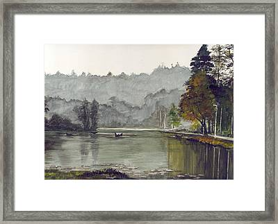 Koadaikanal Lake India Framed Print by Kuppuswami Sundar