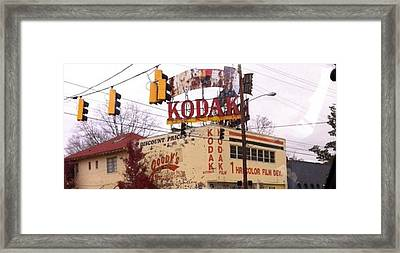 Kodak Building In Atlanta Framed Print by Courtney Gainey