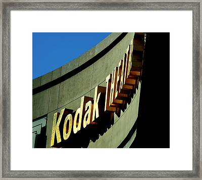 Kodak Theater Sign Framed Print by Jeff Lowe