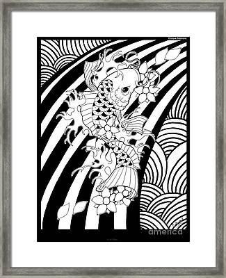 Koi Fish 1 Framed Print by Enrique Simmons