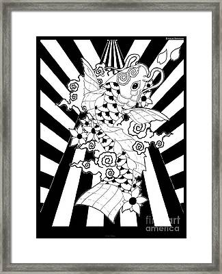 Koi Fish 3 Framed Print by Enrique Simmons