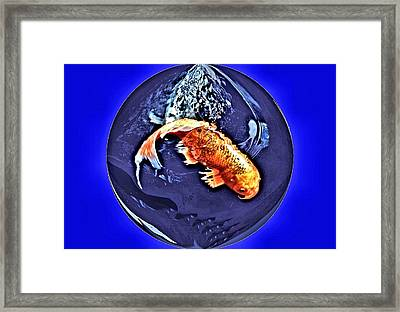 Koi Flag Framed Print