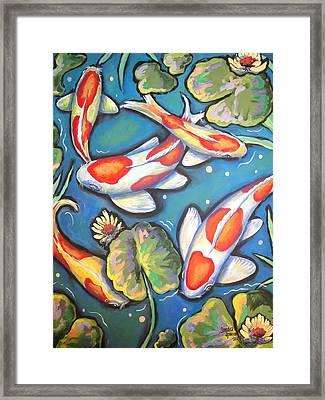 Koi Joy Framed Print by Sandra Lett