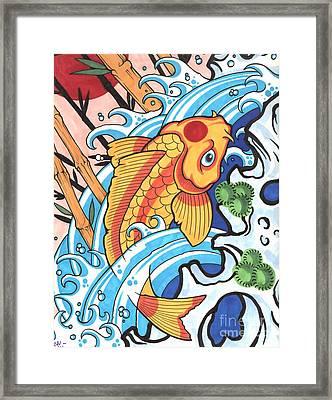 Koi Framed Print by Lon Bennett