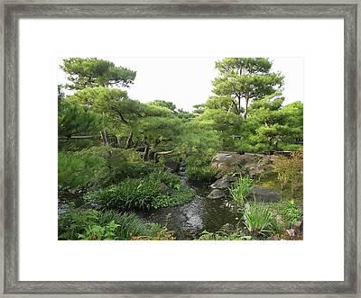 Kokoen Samurai Gardens - Himeji City Japan Framed Print