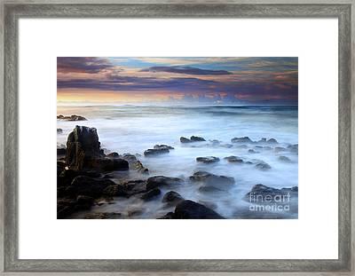 Koloa Dawning Framed Print by Mike  Dawson