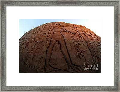 Kom Ombu Temple Heiroglyphics Framed Print