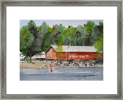 Kon Tiki Marina Lake Simcoe Framed Print