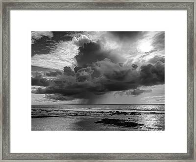 Kona Coast Squall - Big Island Hawaii Framed Print by Daniel Hagerman
