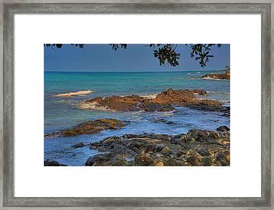 Kona Shoreline Framed Print by Scott Massey