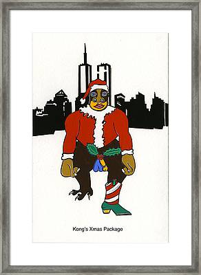 Kong's Xmas Package Framed Print