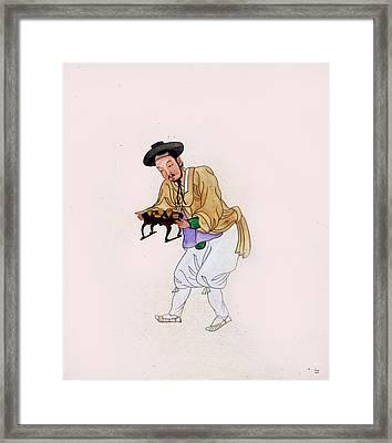 Korean Man Servant Framed Print