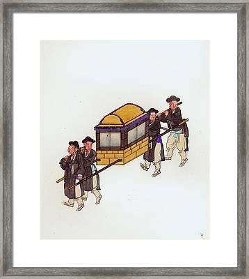 Korean Porters Framed Print
