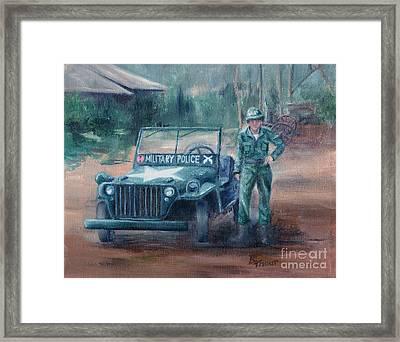 Korean War Hero Framed Print by Brenda Thour