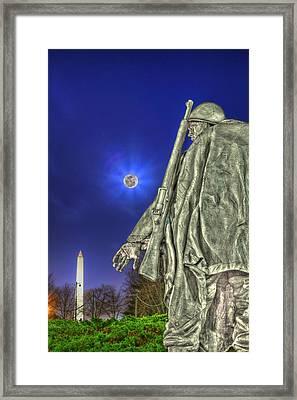 Korean War Memorial Framed Print by Metro DC Photography