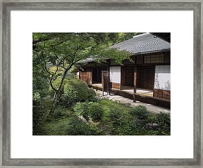 Koto-in Zen Tea House And Garden - Kyoto Japan Framed Print by Daniel Hagerman