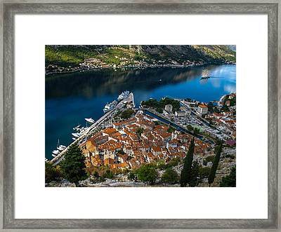 Framed Print featuring the photograph Kotor Montenegro by David Gleeson