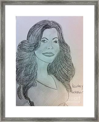 Kourtney Kardashian Framed Print by Charita Padilla