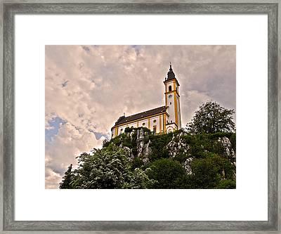 Kreuzbergkirche - Pleystein Framed Print by Juergen Weiss