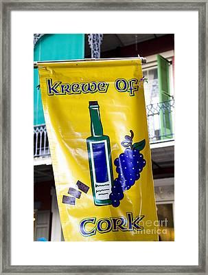 Krewe Of Cork Framed Print by Leslie Leda